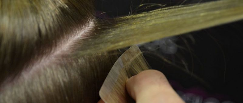 Easitape Hair Extension Application - Step 2 - Colour Checking