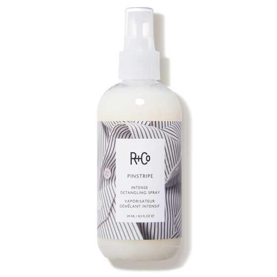 R+Co Pinstripe Detangling Spray